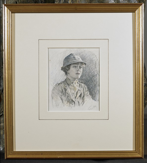 Gilbert Holiday, Sadie Bonnell, of the First Aid Nursing Yeomanry, July 1918