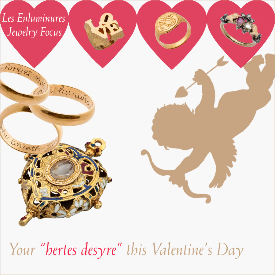 """Les Enluminures Jewelry Focus: Your """"hertes desyre"""" this Valentine's Day:"""