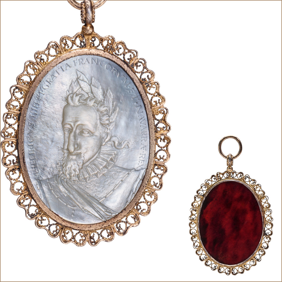 pendant cameo henry iv