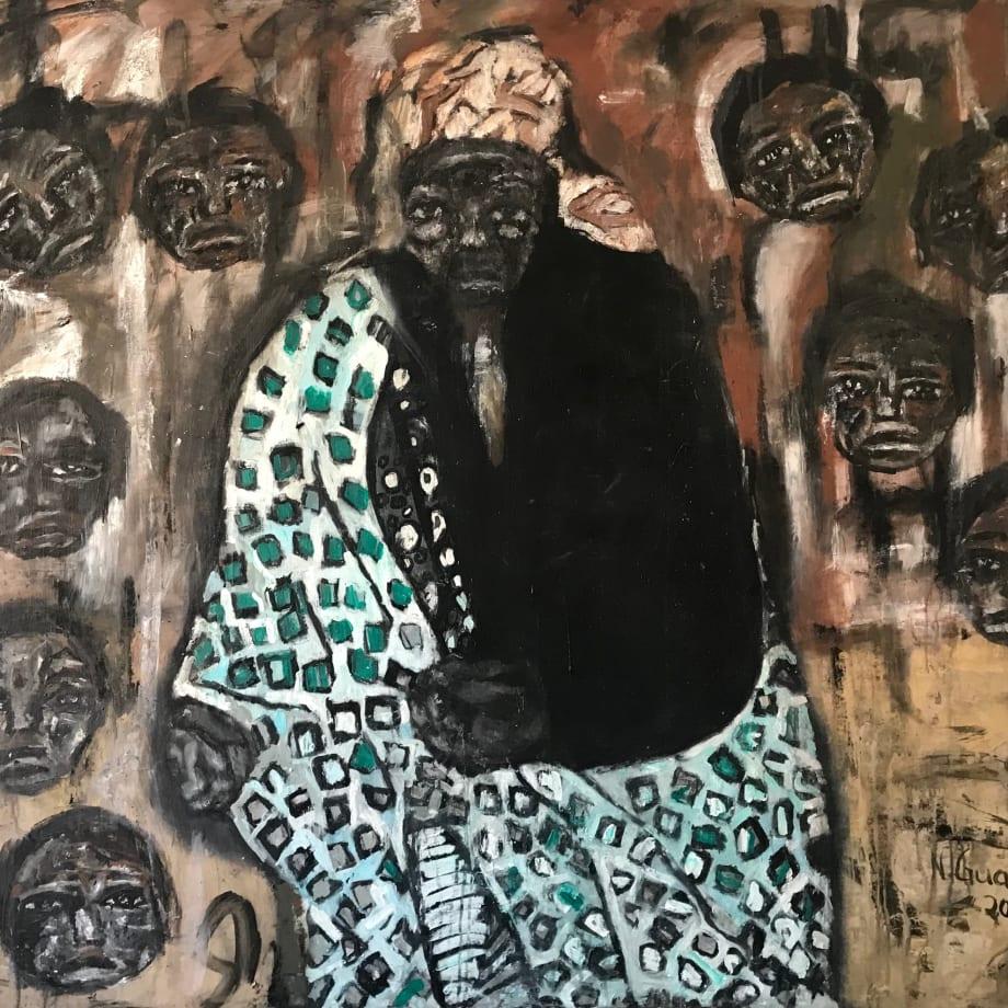 Nelly Guambe  Vovo Maria , 2019  Acrylic on canvas  130 x 150 cm