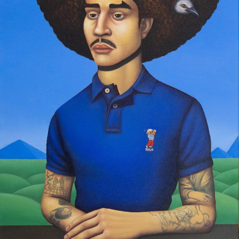 Jake Troyli, Untitled (self-portrait of artist), 2020