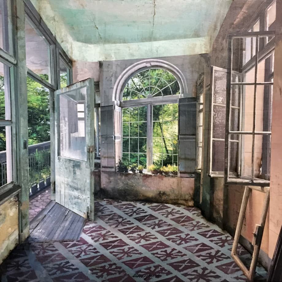 Matteo Massagrande, La vetrata sul giardino, 2017