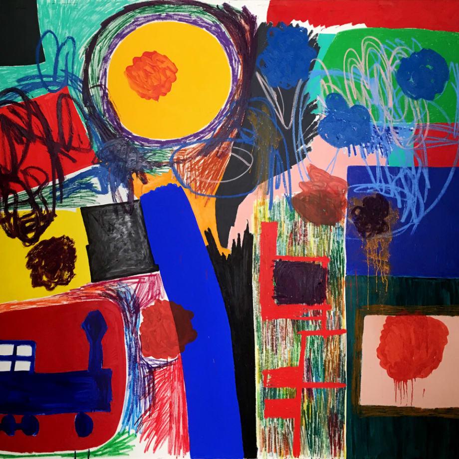 Jannis Varelas, Bob the train and sunset, 2016