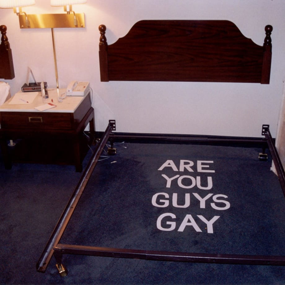 Joel Ross You Guy's are Gay, from the Leaving Stories Series, 2002 c-print 23 x 19 3/8 in. 58.42 x 49.21 cm Edition of 3 plus 2 artist's proofs