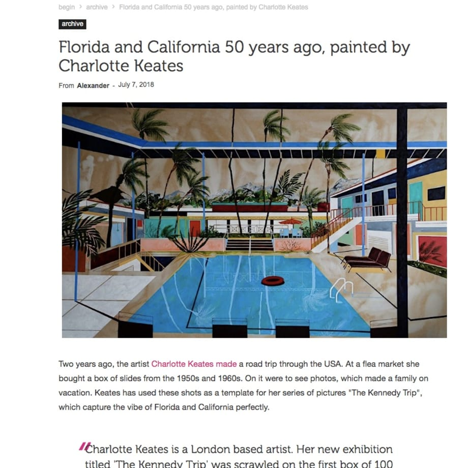 Florida and California 50 years ago, painted by Charlotte Keates