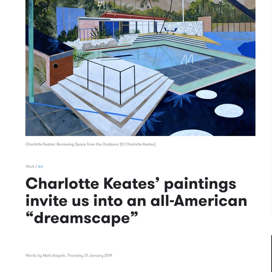 "Charlotte Keates' paintings invite us into an all-American ""dreamscape"""