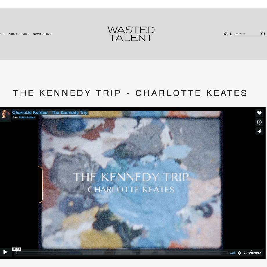 Blog: The Kennedy Trip - Charlotte Keates