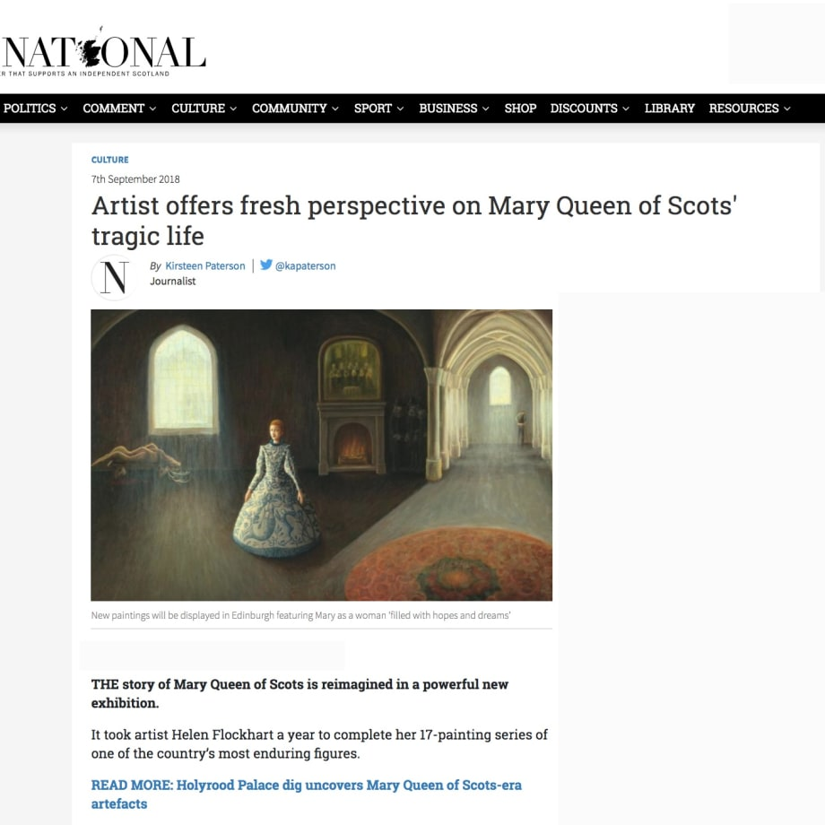 Artist offers fresh perspective on Mary Queen of Scots' tragic life