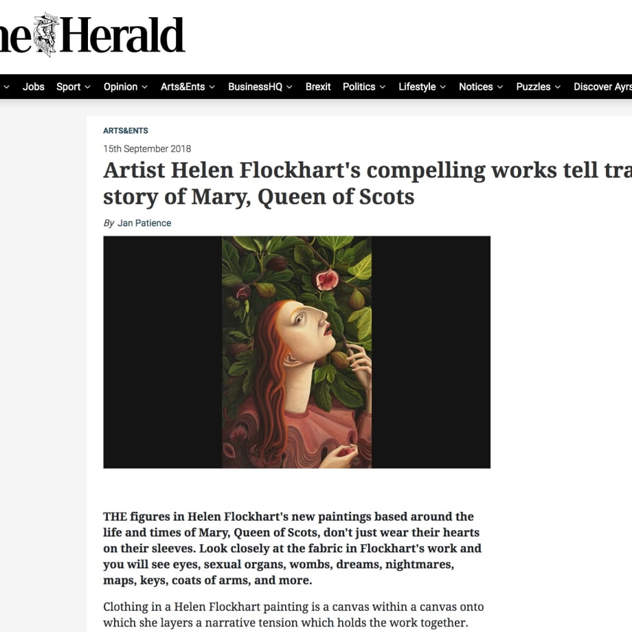 Artist Helen Flockhart's compelling works tell tragic story of Mary, Queen of Scots