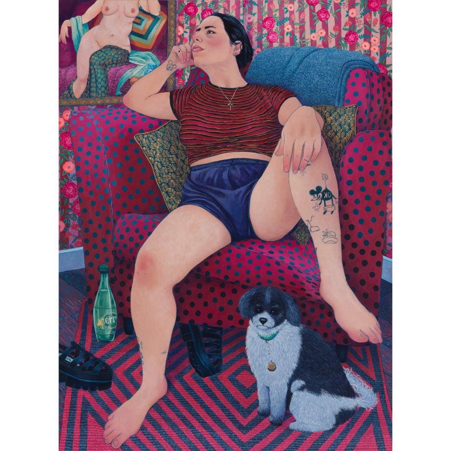 Alina (2019), acrylic on canvas, 70 x 52 x 1 1/4 in