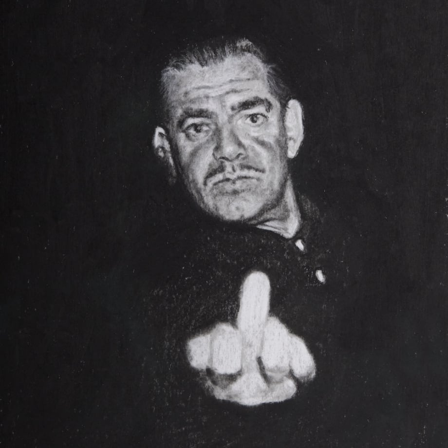Nina Mae Fowler Clark Gable, 2017 Sold as a diptych Conté on paper 320 x 190 mm