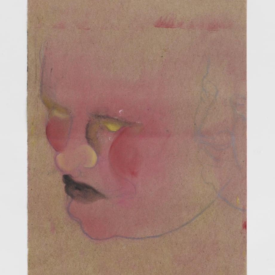Demon, 2021, Oil pastel, oil paint, oil primed sugar paper, 16 1/2 x 11 3/4 in