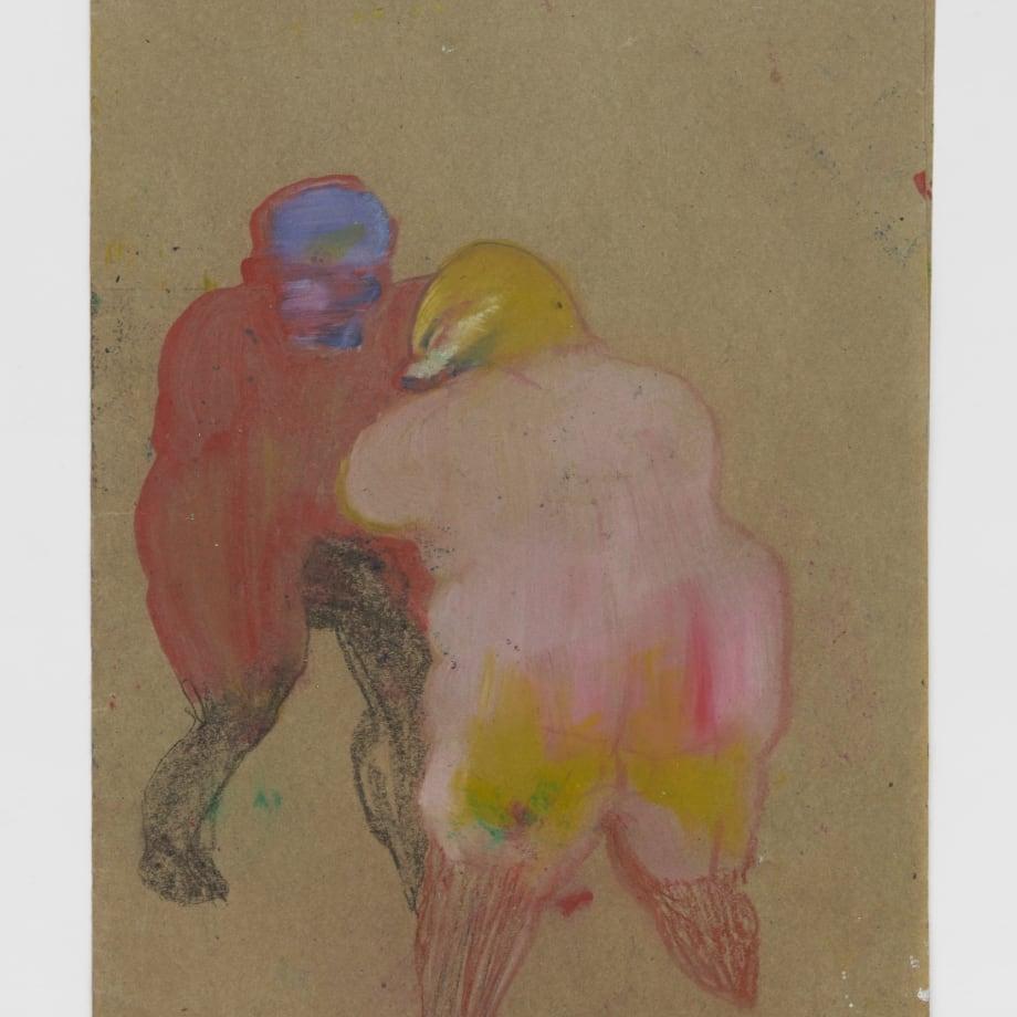 Untitled III, 2021, Oil pastel, oil paint, oil primed sugar paper, 16 1/2 x 11 3/4