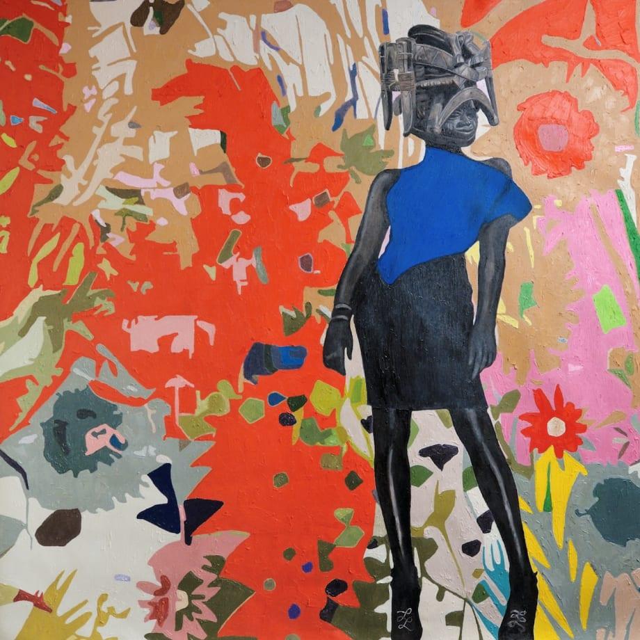 Wole Lagunju, Renaissance, 2017, Oils on canvas, 182.88 x 182.88 cm