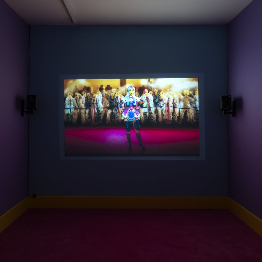 Rachel Maclean, It's What's Inside That Counts, 2016, single screen installation, 30 minutes, commissioned by HOME, University of Salford Art Collection, Tate, Zabludowicz Collection, Frieze Film and Channel 4.
