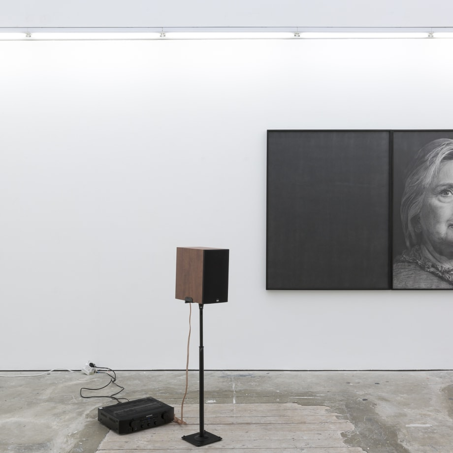 Karl Haendel, Hillary, 2016, pencil on paper and audio recording 148 x 115 x 5 cm (each)