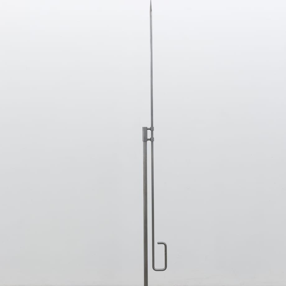 Nikita Kadan, Tiger's Leap, 2018, mild steel, 190 x 35 x 35 cm