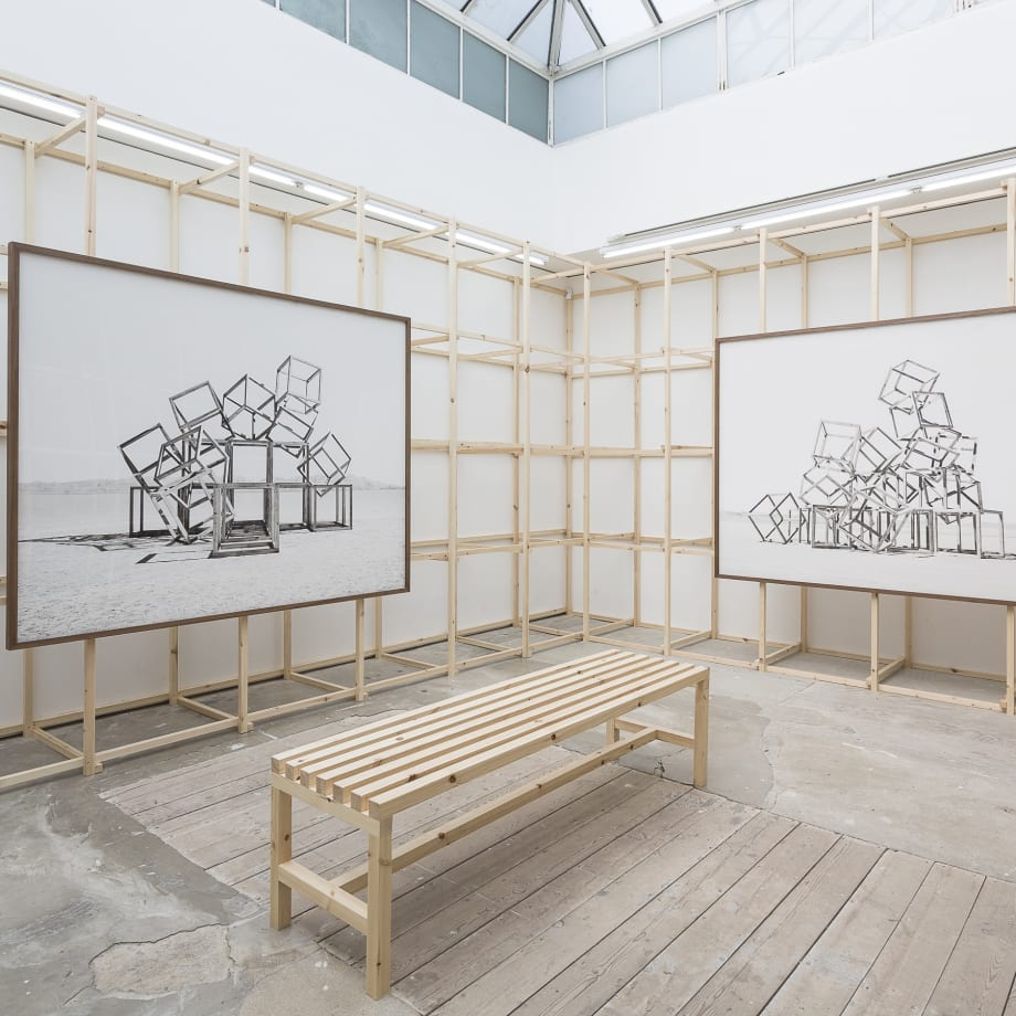 Noémie Goudal, Telluris, installation view, Edel Assanti, London, UK, 2018