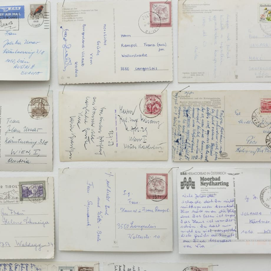 Yoshinori Niwa, Resending postcards sent during the Cold War to the intended recipients, detail, 2017