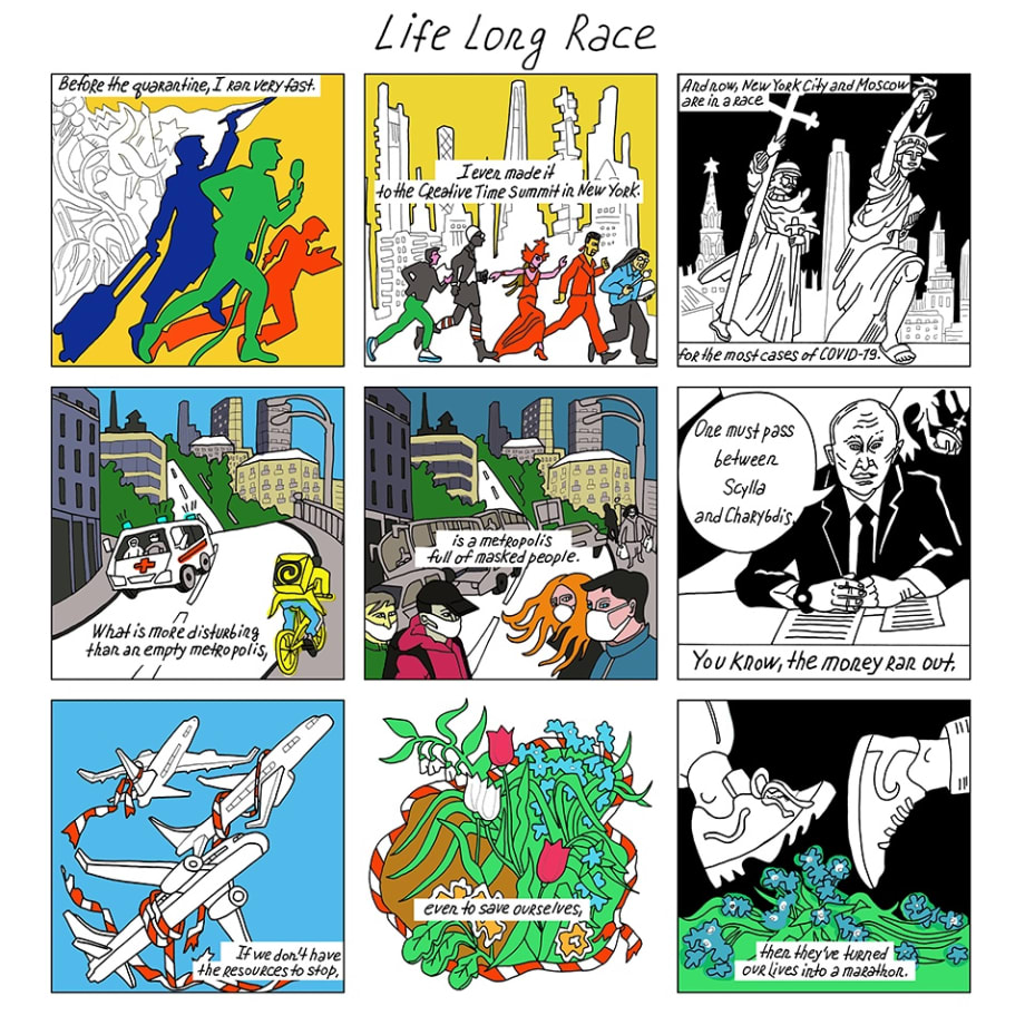 Victoria Lomasko, Life Long Race, 2020