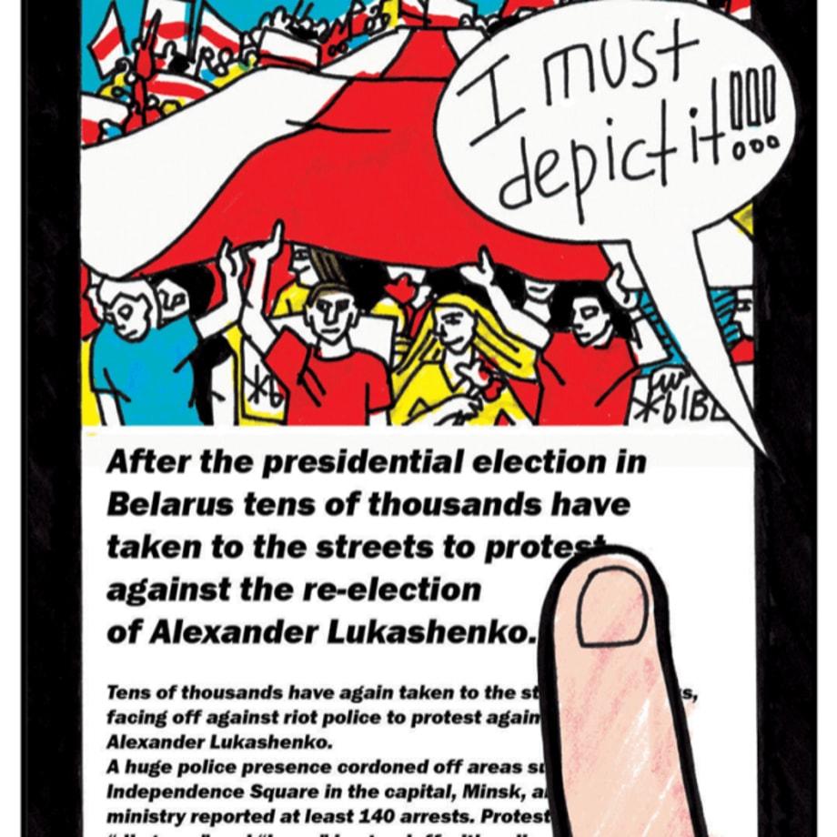 Victoria Lomasko, A Revoltuion in Belarus, 2020 (image 3 of 20)