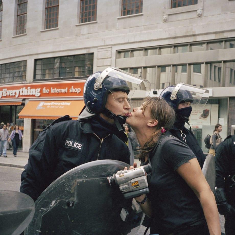 Vinca Petersen, Riot Cop Kiss, 1997