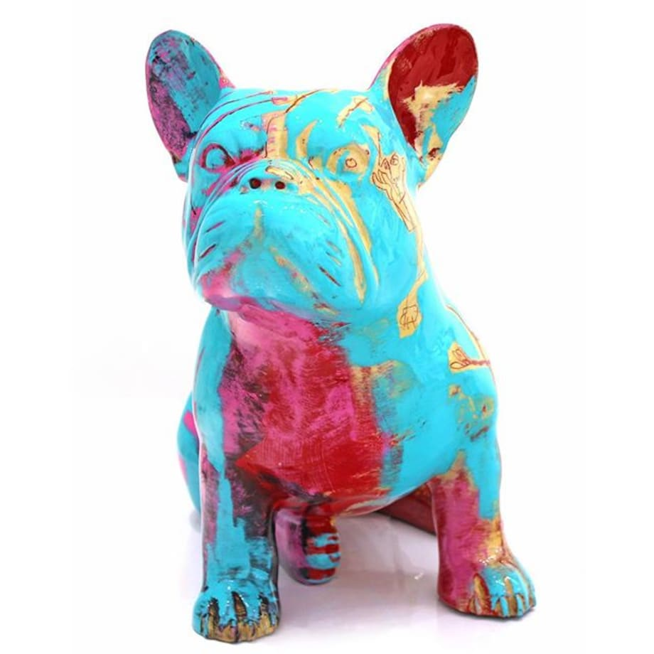 "Gefen Fine Art is thrilled to announce the arrival of new sculptures by Parisian artist, Julien Marinetti. His unique bronze sculptures feature Doggy John the bulldog, Ba the panda, Teddy Bears and Penguins, all with an impeccable porcelain-like lacquered finish and an explosion of colors, enhanced by engravings with inlayed gold leaf. Marinetti was profoundly affected by those whom he considers his masters, and still proudly claims his links with Picasso, Matisse, Léger, Moore and Bacon. Marinetti describes his inspiration by saying, ""The artist has an advantage with sculpture; he can physically move around the work as it emerges. The exercise also taught me that a painting is not bi-dimensional, but trim-dimensional in its composition. Picasso worked this way during one period, when he painted his sculptures. He left sculpture to return to painting. My work has followed a similar process."" @julienmarinetti #gefenfineart #sanfrancisco #popart #nouveau #pop #fineart #fineartgallery #contemporary #contemporaryart #contemporarygallery #popartist #frenchartist #paris #julienmarinetti #bronze #bronzesculpture #doggyjohn #frenchie #frenchbulldog #bronzeart #handpainted #boldart #picasso"