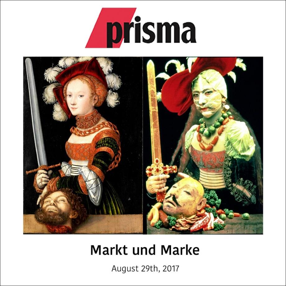 """Links das Original: Cranachs """"Judith"""" kommt aus New York an den Rhein; Rechts die Interpretation: Yasumusa Morimuras Judith-Version von 1991"""