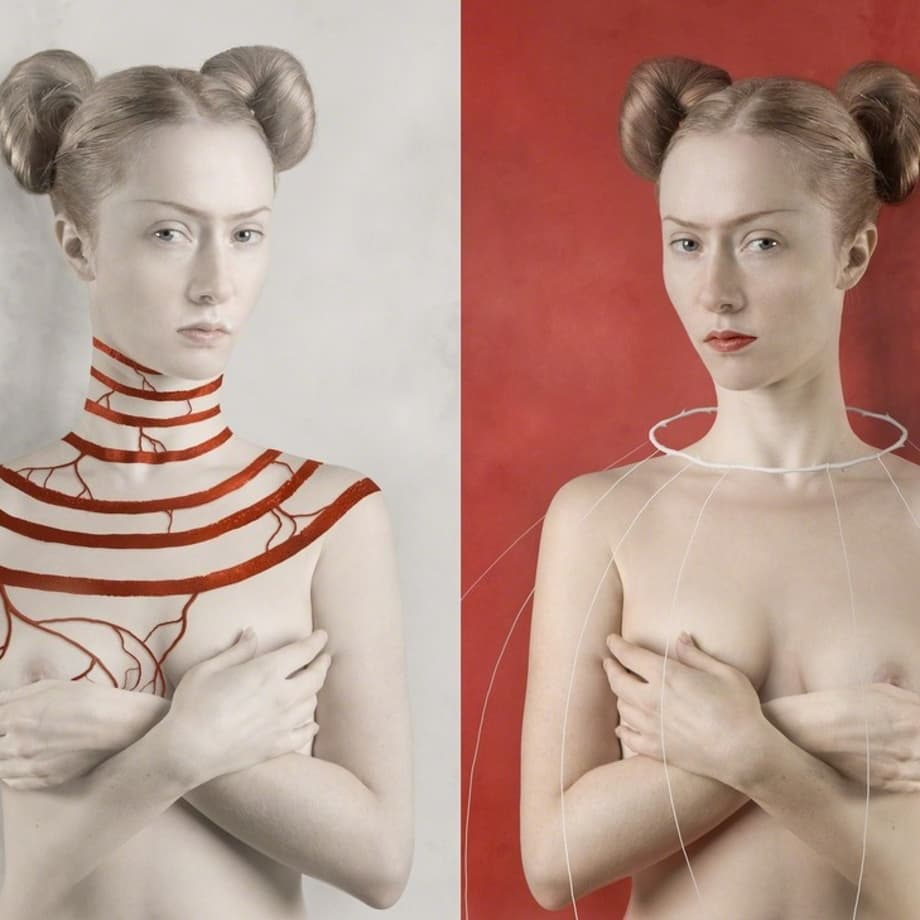 For Kahlo. White / For Kahlo. Red by Katerina Belkina