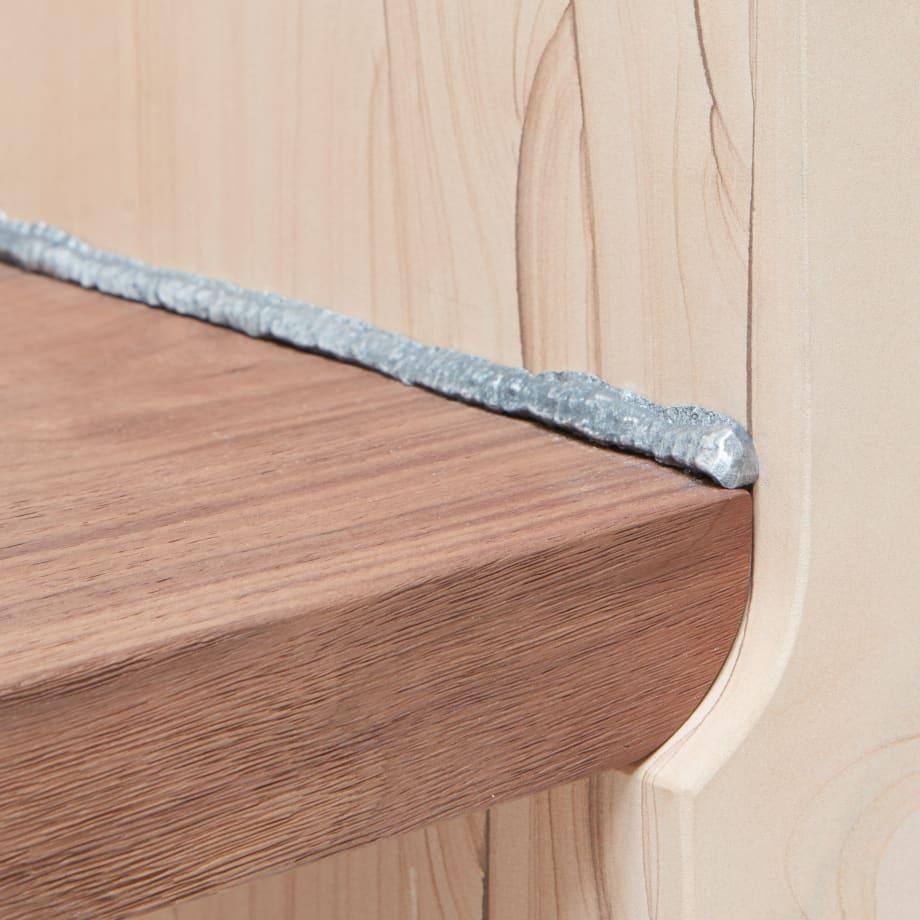 Hagit Pincovici Sands Sandstone, Noce Canaletto, Alluminio 47cm x 32cm x 49cmA