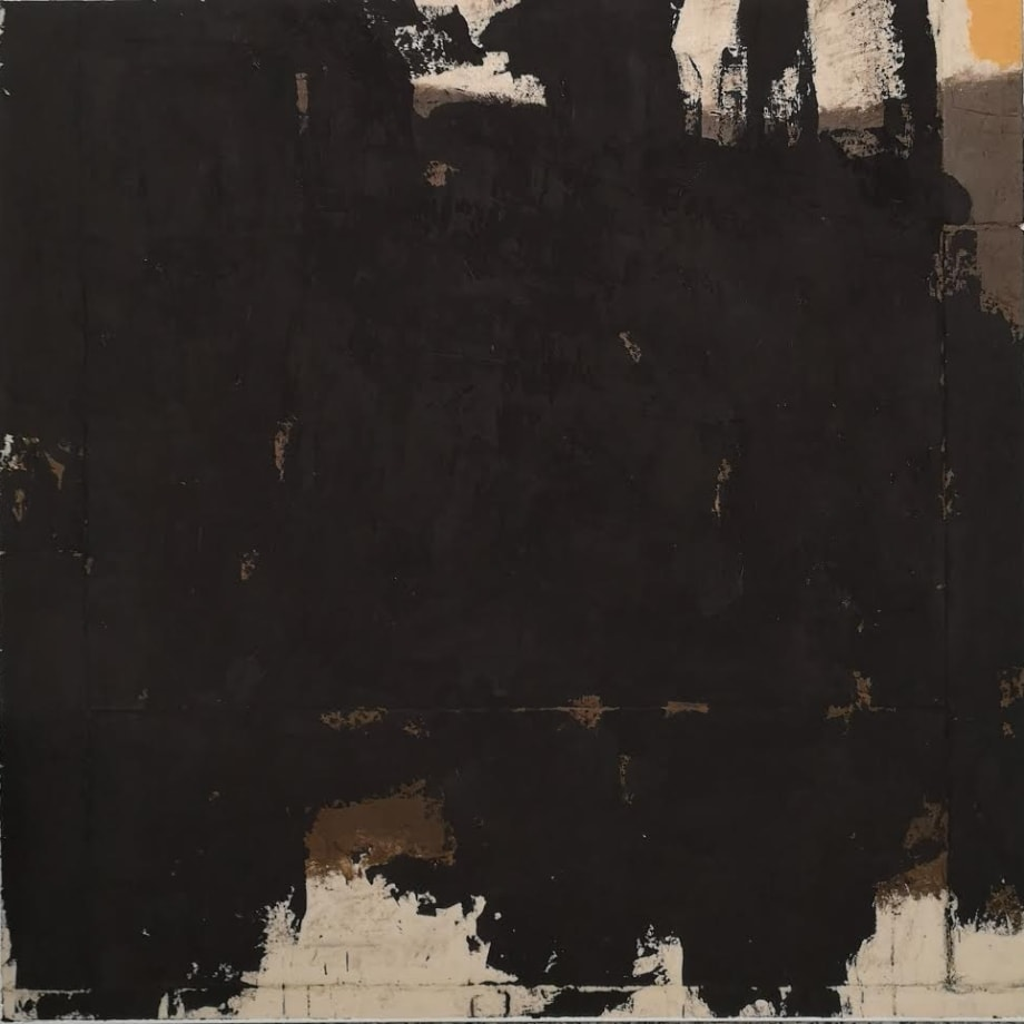 Luca Serra Mientras nadie mira - Carbón, 2019 calco in resina acrilica di cementi, pigmenti e polveri su tela cm 120 x 120