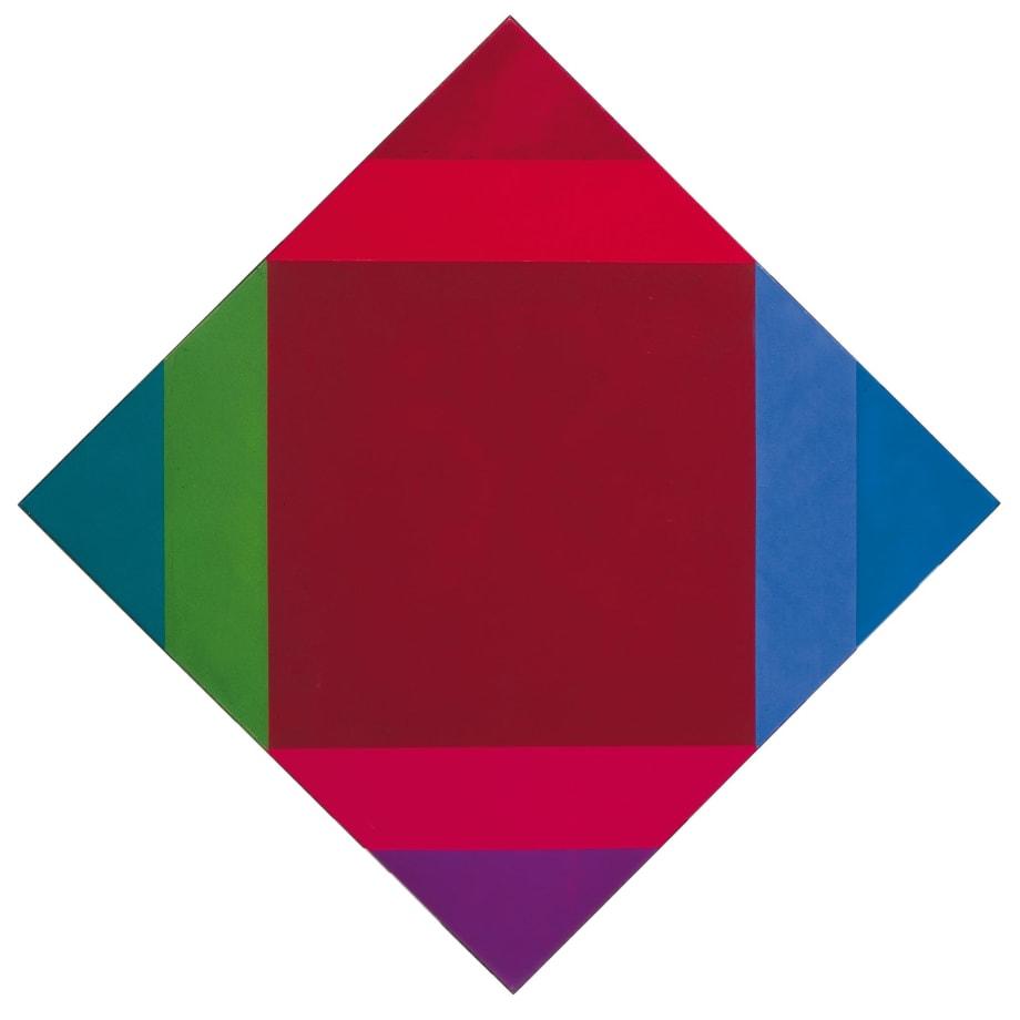 MAX BILL Transcoloration aus braun, 1972-1975 olio su tela cm 80x80