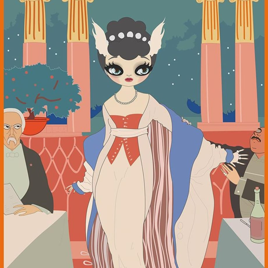 Indebted to the graphic formats of Manga and Anime, the Mari Kim introduces several European sources of inspiration new to her work. These compositions pay homage to Art Nouveau and Art Deco icons... The Belle Epoque femme fatale is raised up to a position where she looks the viewer unashamedly straight in the eye. • View Mari Kim | Immortal Beloved online and on Artsy, or stop by our Chelsea space to see the works in person. Follow the link in our bio to learn more! • #PontoneGallery #MariKim