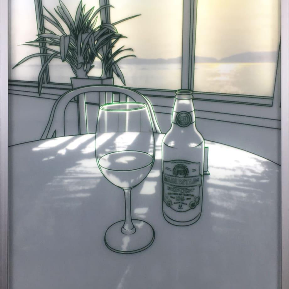 The Sunshine Room | 2016 | Tempered Glass, Sandblast & LED Backlit | 68 x 51 x 4 cm (27 x 20 x 1.5 in)