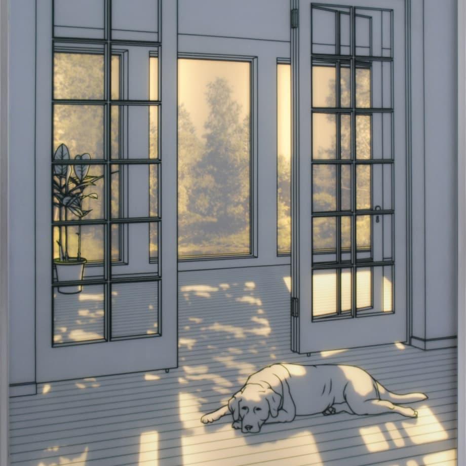 The Sunshine Room VIII | 2018 | Tempered Glass, Sandblast & LED Backlit | 102 x 80 x 4 cm (40 x 31.5 x 1.5 in)