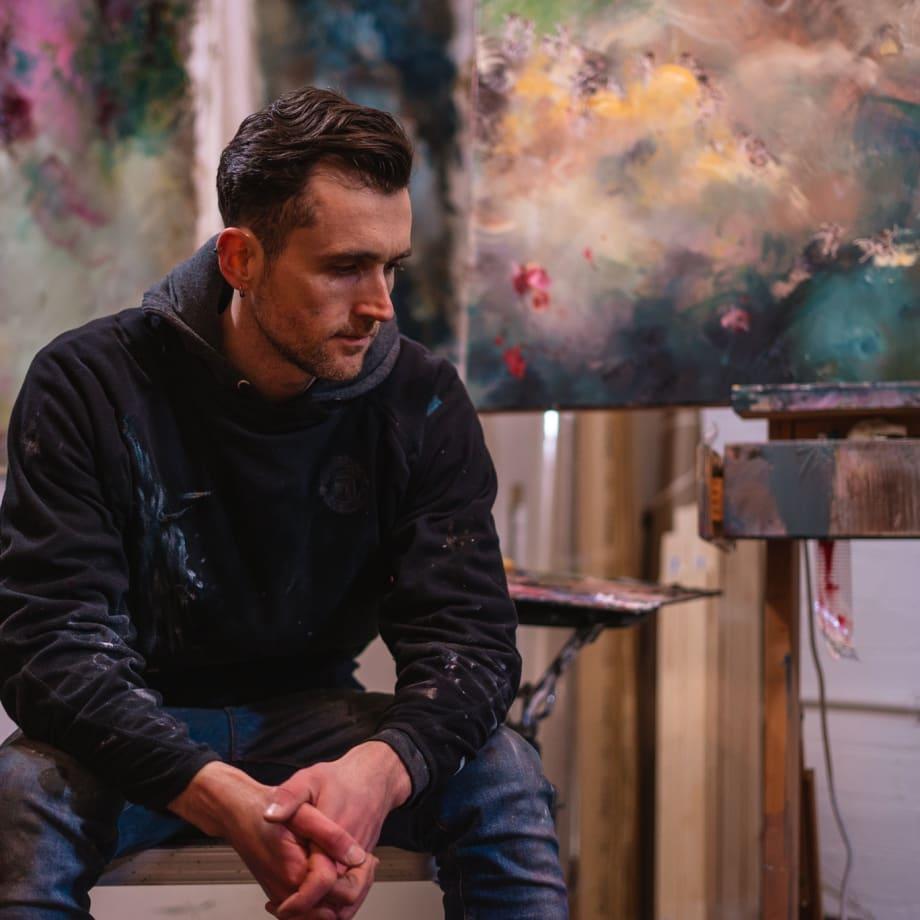 Chris Rivers in his studio