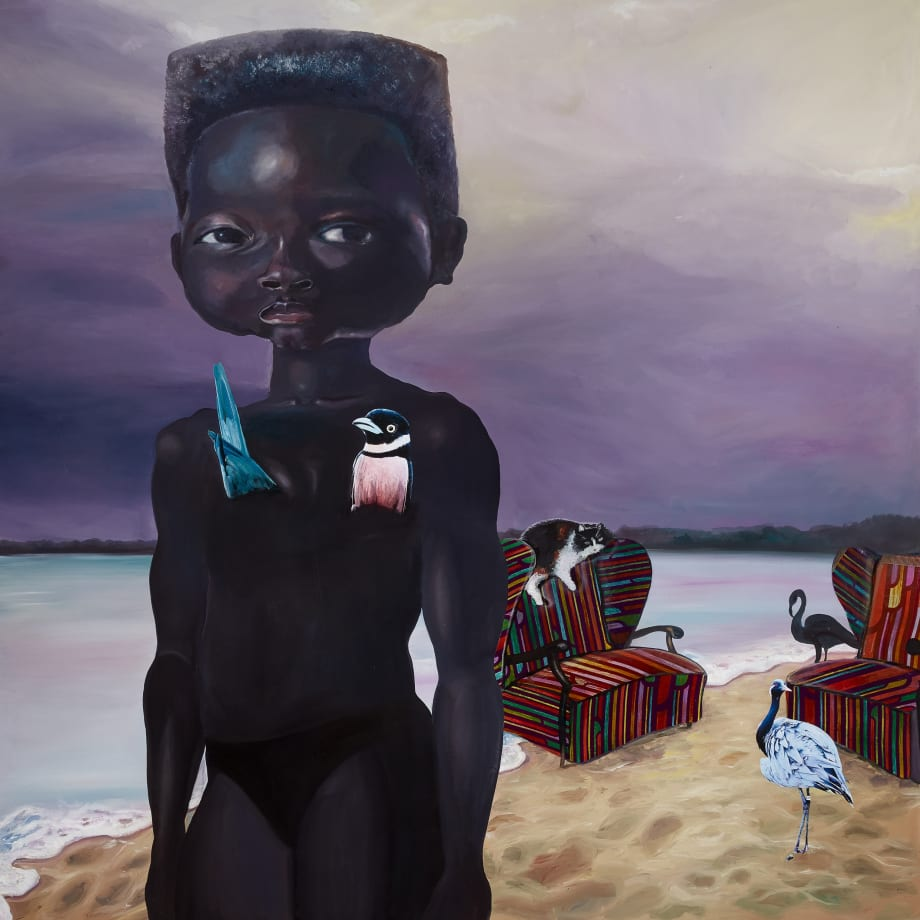 Ndidi Emefiele Untiled (beach girl), 2020