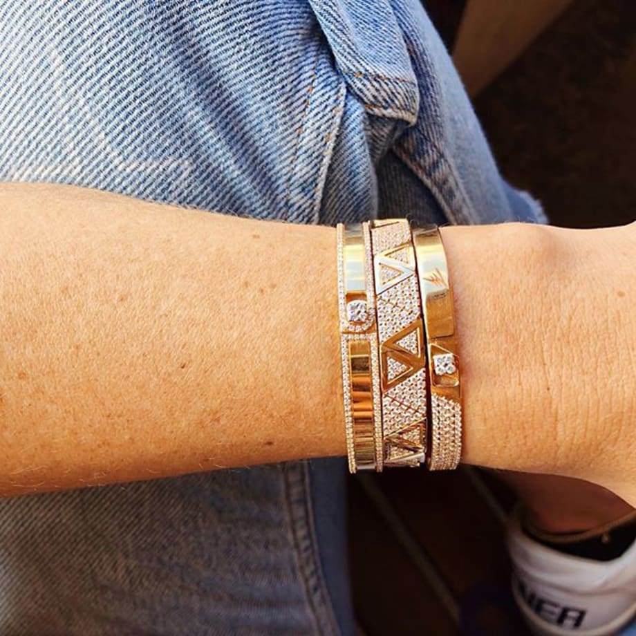 Get that Friday look with @alessadesigns new collections presented @by_couture #couture2019 #thecoutureshow #alessa #bangles #spectrum #diamonds #finejewelry #jewelry #love #fashion