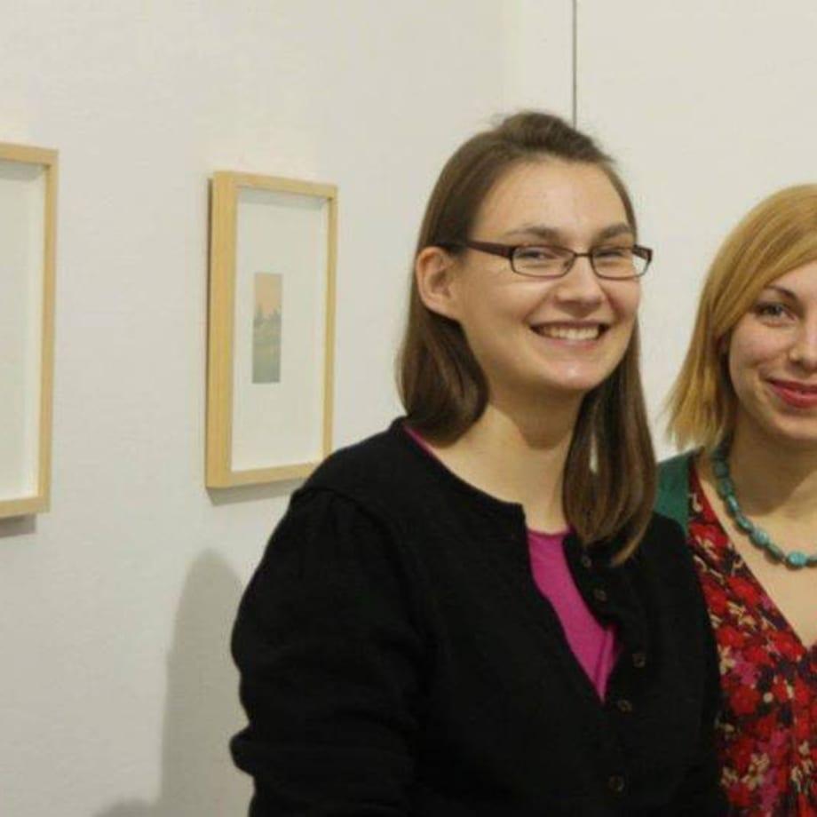 Curator Eglė Juocevičiūrė and artist Emilija Škarnulytė Thurstday review 29 12 2011