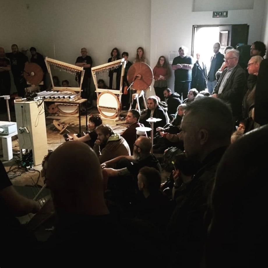 Drone Ensemble Performance for TUSK FESTIVAL 2018 at Workplace Foundation. Photo: Rob Blazey