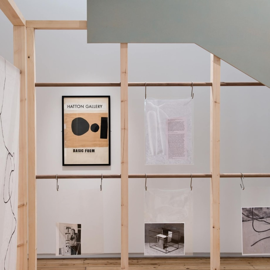 Installation view of Harriet Sutcliffe's 'Archival-Constructions' at Hatton Gallery, 2018