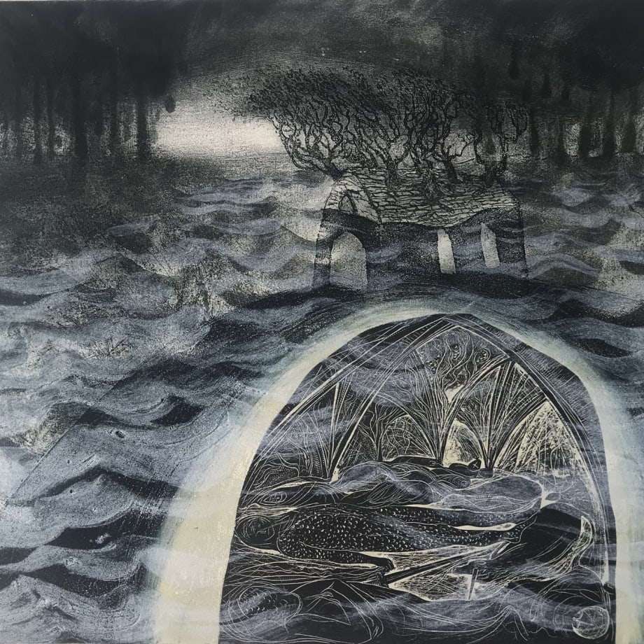 Flora McLachlan, 'The King Under the Flood', etching
