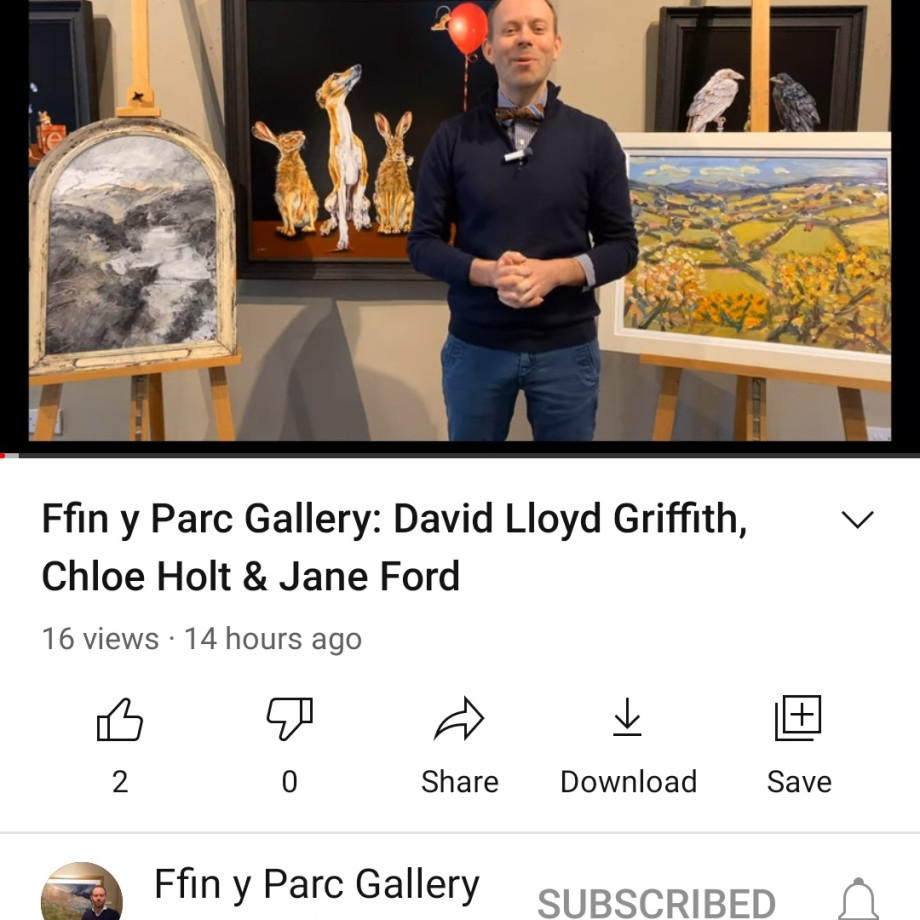 Ralph gives you a tour of our latest exhibition - David Lloyd Griffith, Jane Ford & Chloe Holt, Please click...