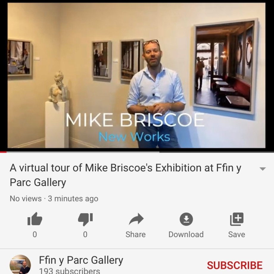 Ralph gives a virtual tour of Mike Briscoe's Exhibition, Please Click the Image to View the Video