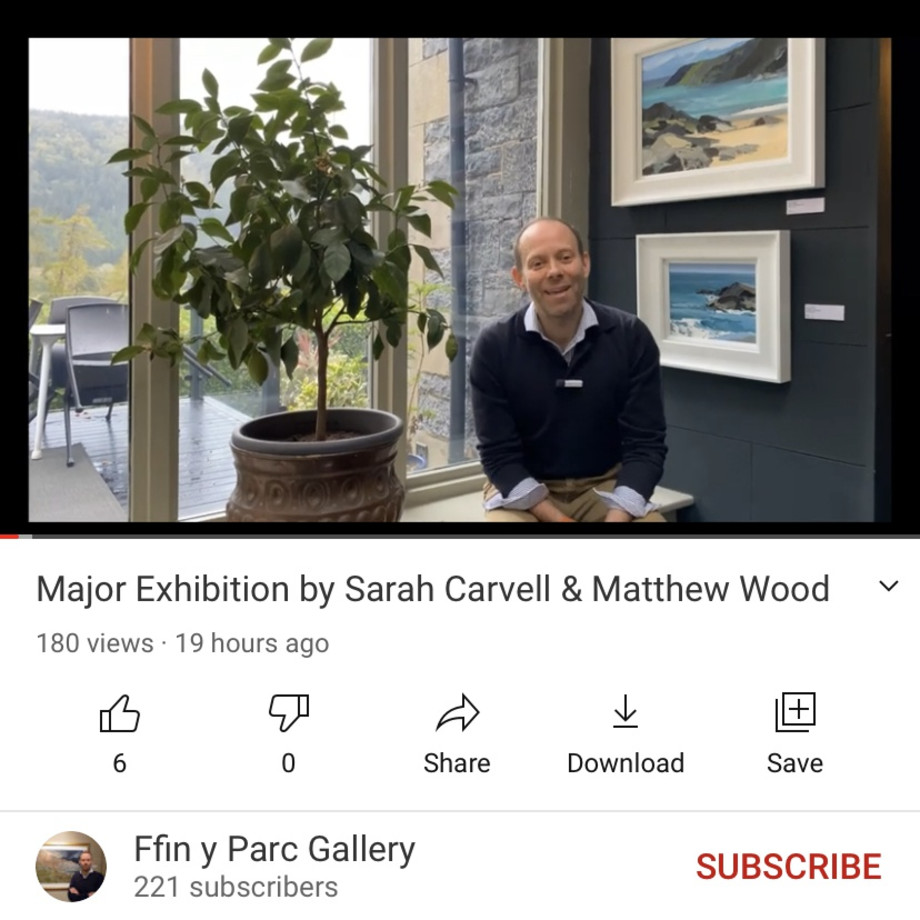 Ralph gives you a tour of our latest joint exhibition by Sarah Carvell & Matthew Wood, Please click the photo...
