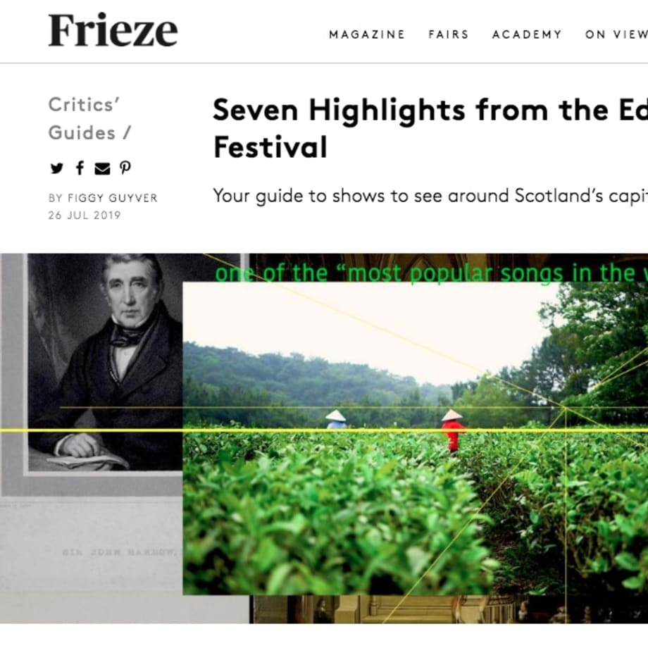 Frieze: Seven Highlights from the Edinburgh Art Festival