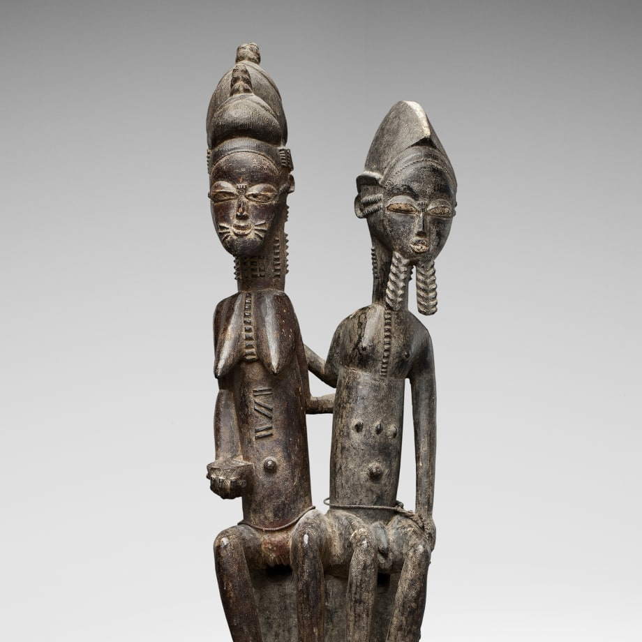 Seated Baule couple, Ivory Coast