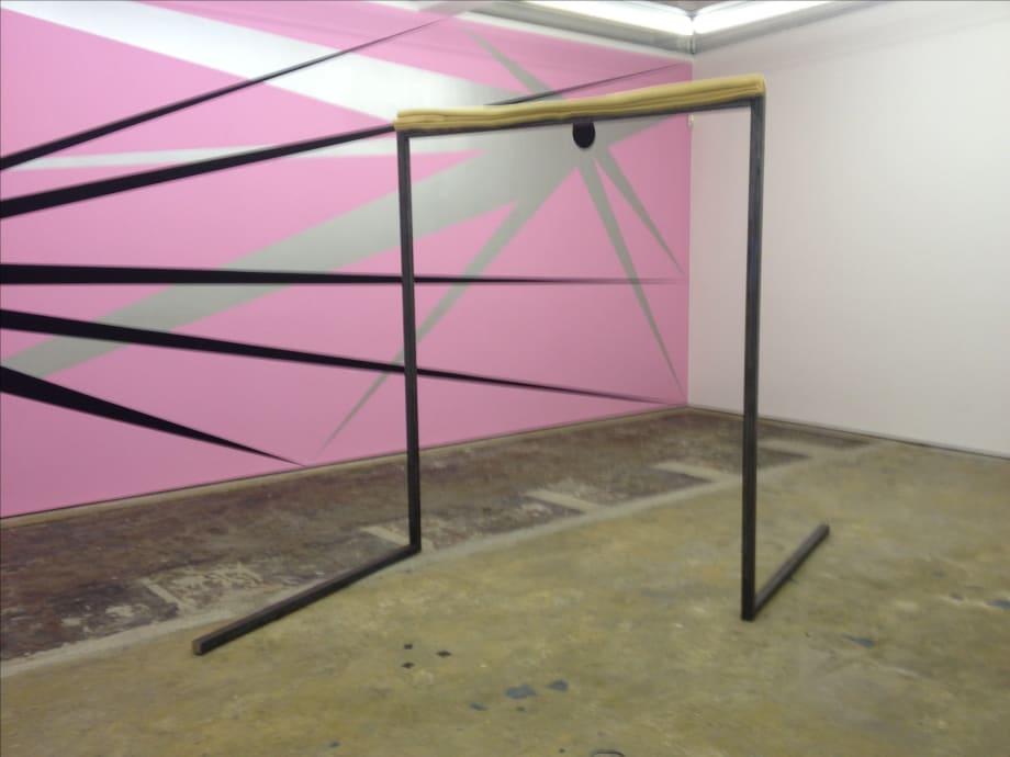 Eric Bainbridge Spatial Concept (Social), 2013 Steel, woolen blanket 305 x 230 cm 120 x 90 1/2 in
