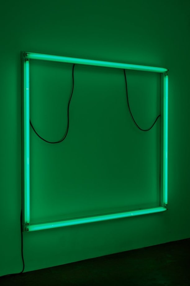 Untitled (Green Plate), 2011 Striplights, Rubberflex 166 x 179 x 95 cm 65 3/8 x 70 1/2 x 37 3/8 in