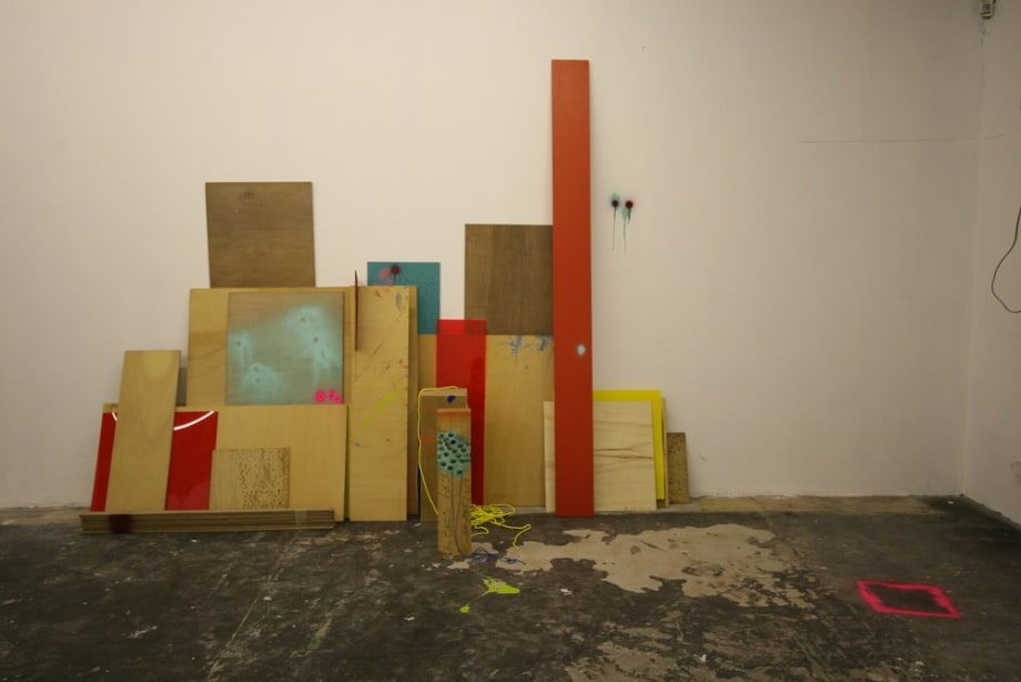 Second Chemmy Shuffle, 2007 Plywood, Perspex, Paint, Rope, Plastic Dimensions Variable
